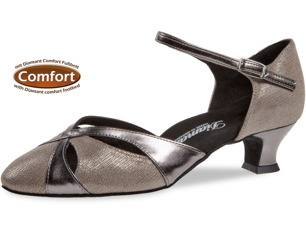 Diamant 142-014-466 Comfort Bronze Brocade/Bronze Leather Wide Fit
