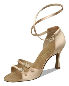 Supadance 1618  Flesh Tan Satin open toe sandal