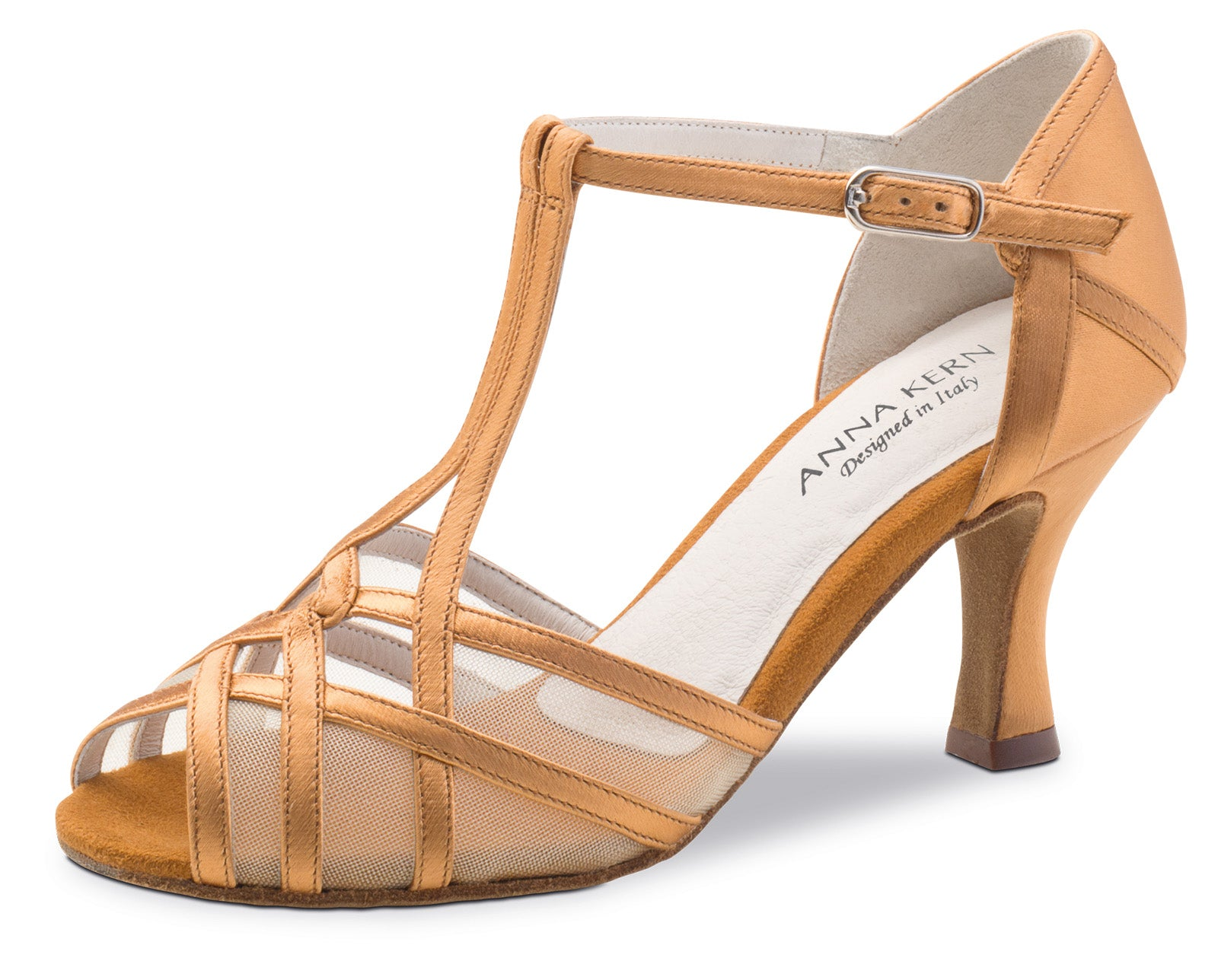 Anna Kern 640-60 satin sandal with mesh