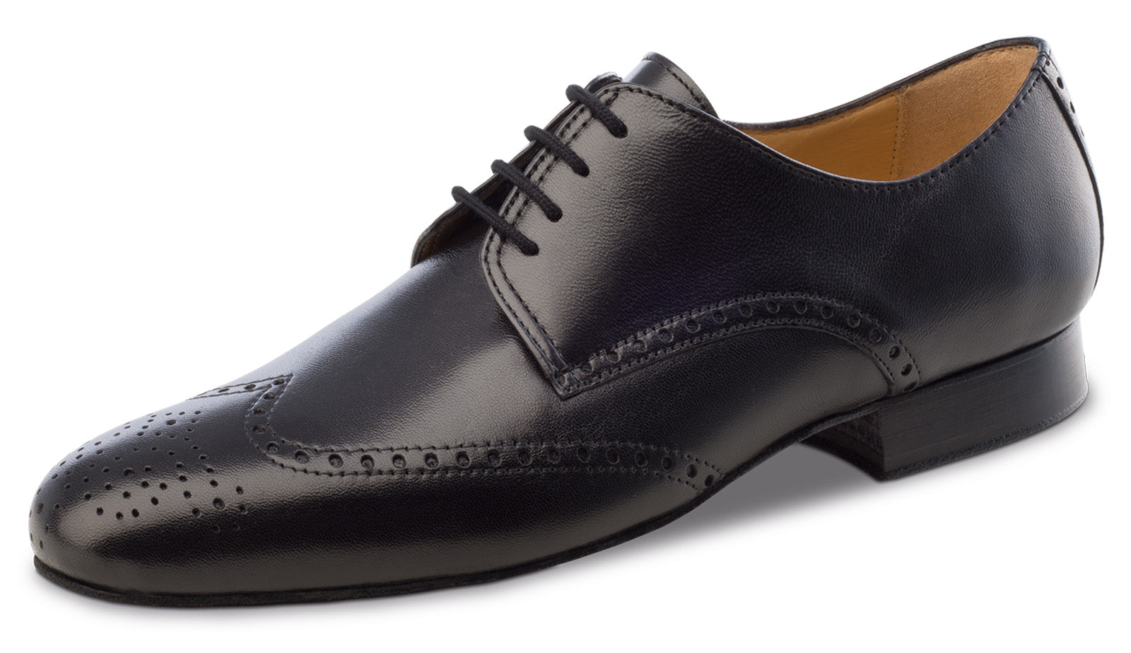 Anna Kern 6642 Black leather brogue