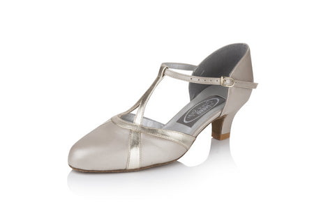 Freed of London - Nancy champagne/gold ladies closed toe shoe