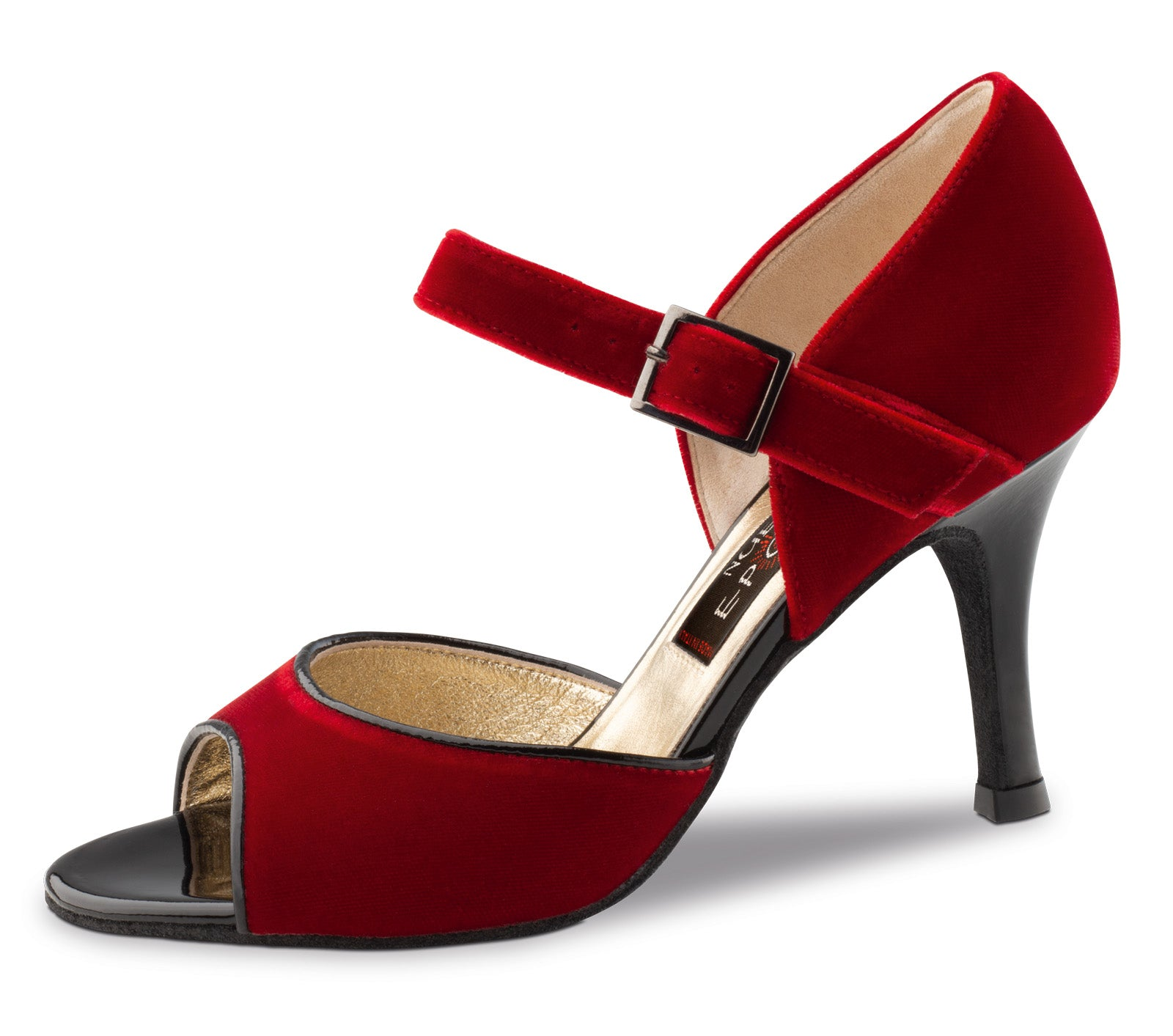 Nueva Epoca - Romy Velvet Red/Patent Black