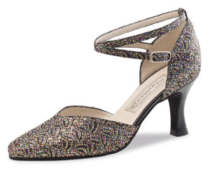 Werner Kern - Betty brocade multi/black patent