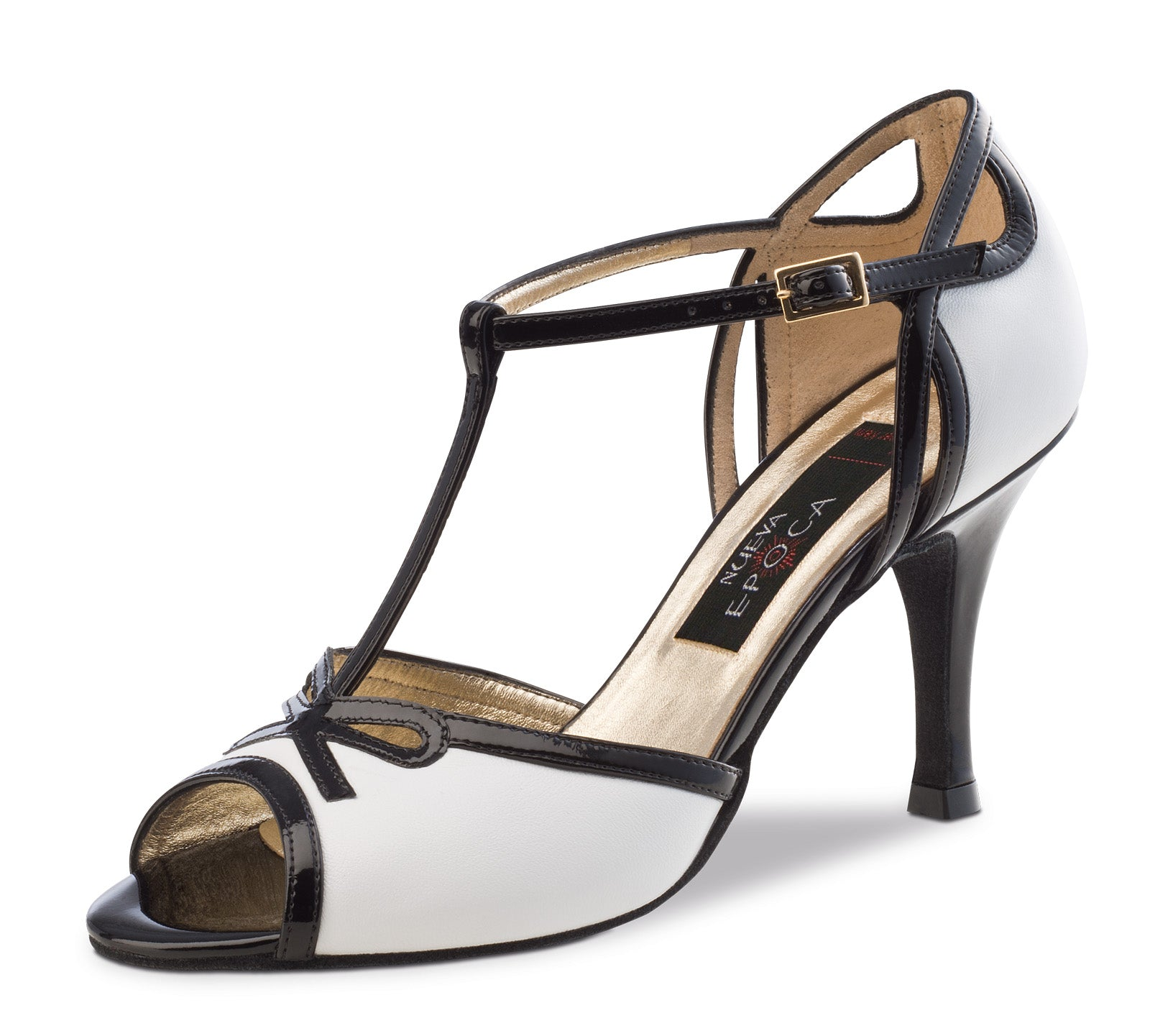 Nueva Epoca - Paloma Black/White Lamb Leather/Patent Leather