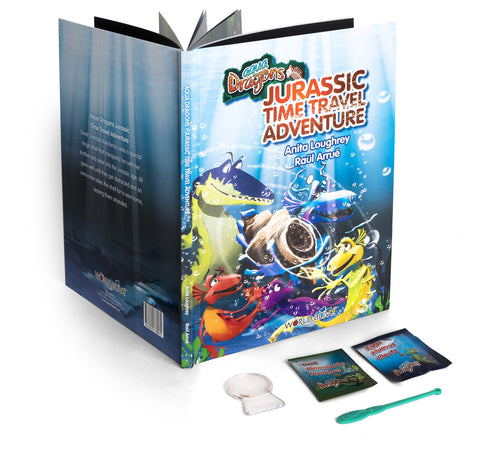 Picture of Book: Jurassic Time Travel with Special Edition Aqua Dragons kit