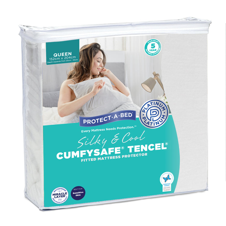 Protect-A-Bed Cumfysafe Tencel Long Double Mattress Protector