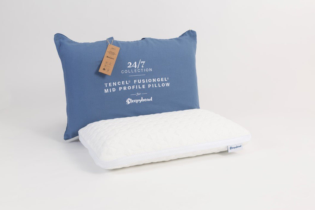 Sleepyhead 24/7 Tencel® FusionGel Mid Profile Pillow