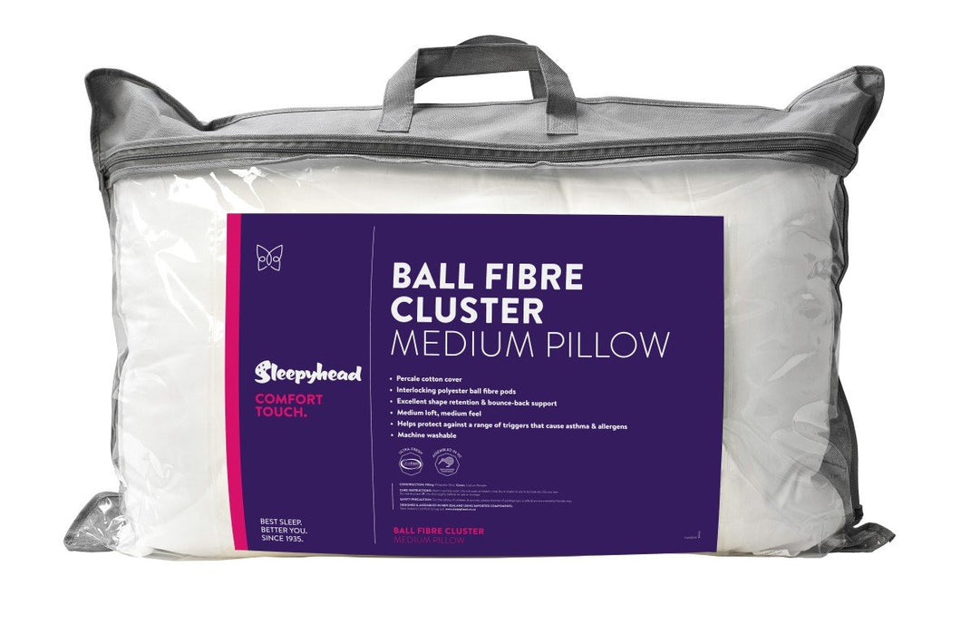 Sleepyhead Comfort Touch Ball Fibre Cluster Pillow