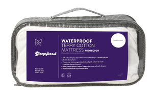 Sleepyhead Waterproof Terry Cotton Mattress Protector Pack Cali King