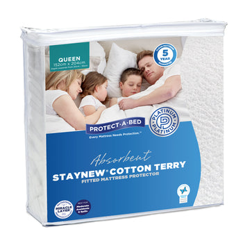 Protect-A-Bed StayNew Cotton Terry Long Single Mattress Protector