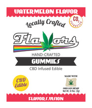 Load image into Gallery viewer, Flavors® Hand-Crafted Gummies CBD Infused Edible