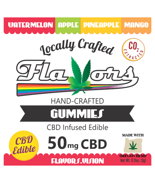 Flavors® Hand-Crafted Gummies CBD Infused Edible