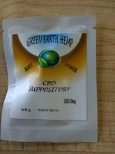 Load image into Gallery viewer, Green Earth Hemp - CBD Suppository
