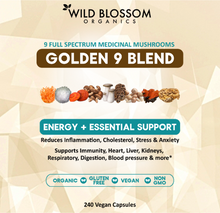 Load image into Gallery viewer, Golden 9 Blend Medicinal Mushroom Capsules