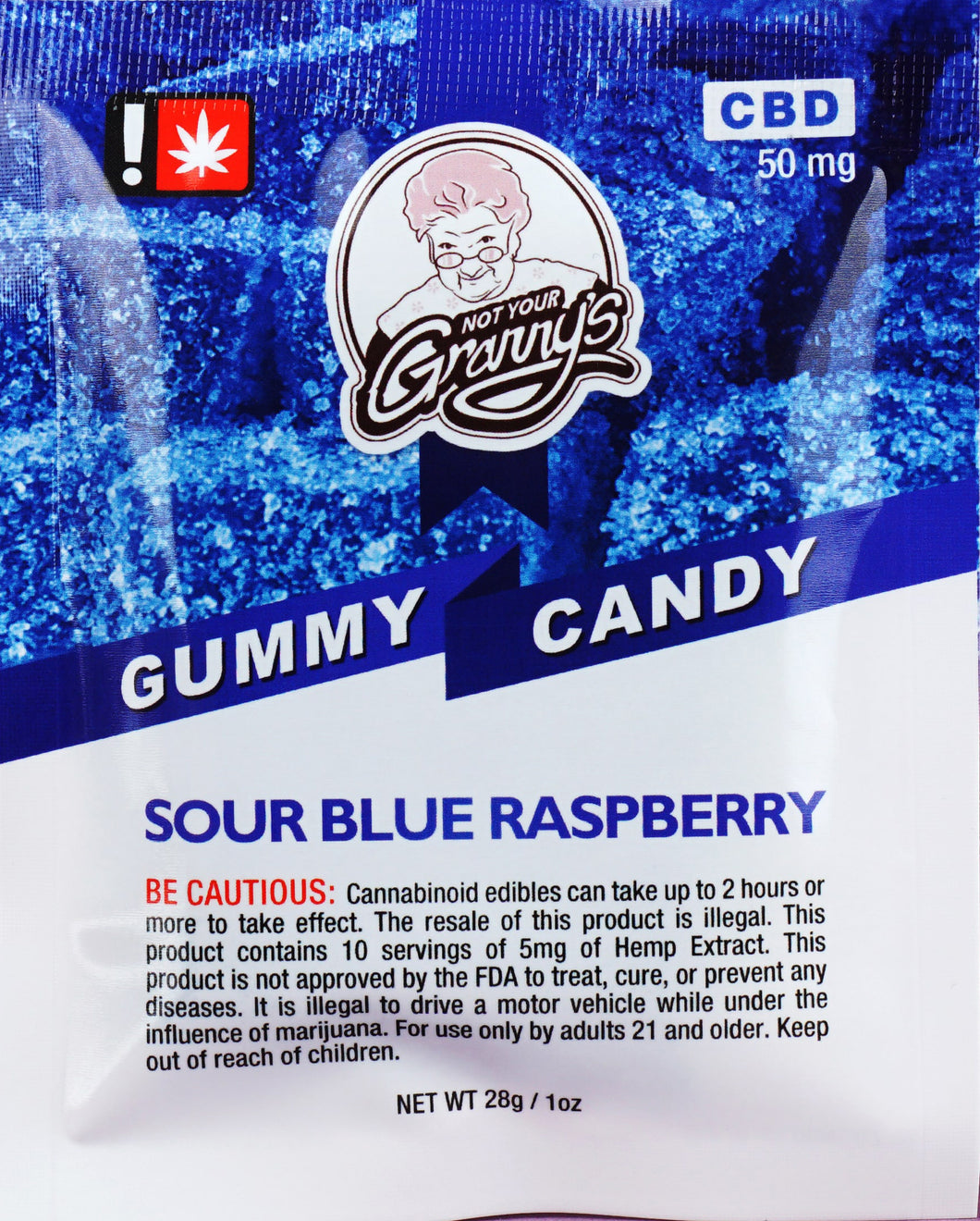 Not Your Granny's Gummy Candy – Sour Blue Raspberry