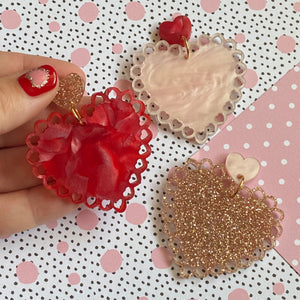 Little love doilies dangles