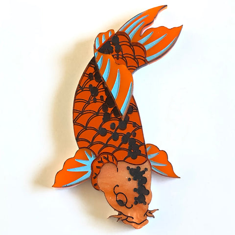 Good fortune Koi brooch