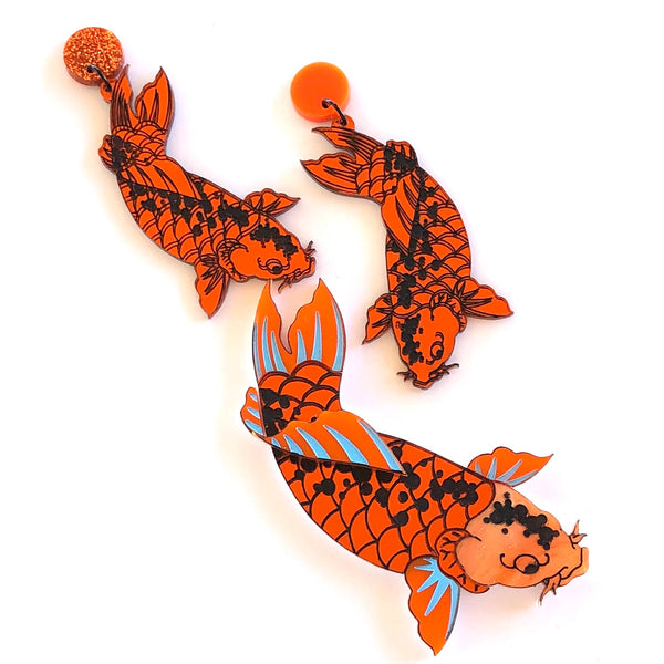 Good fortune Koi earrings