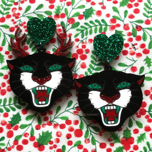 BahHumBug panther earrings