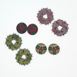 A very Aussie Christmas Wreath studs