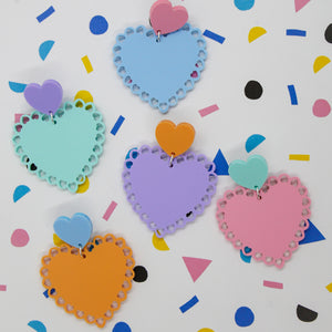 Little love doilies dangles - Pastel Dreams