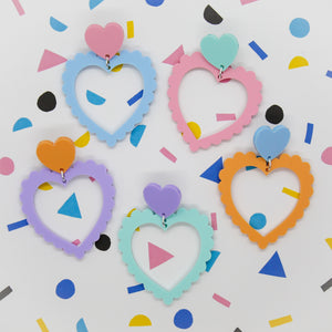 Frilly hearts dangles - Pastel Dreams