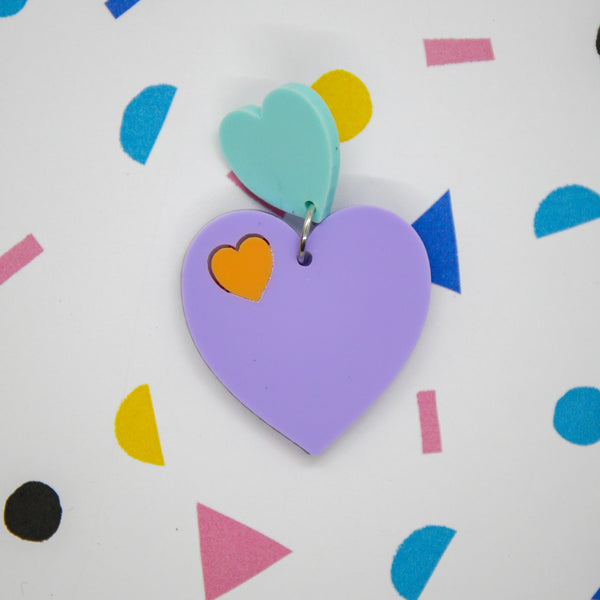 Cupid heart earrings - Pastel Dreams