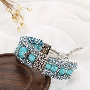Turquoise Beaded Bright Diamond Bracelet
