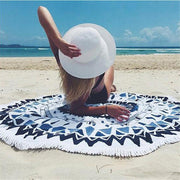 Fashion   geometric pattern beach towel shawl
