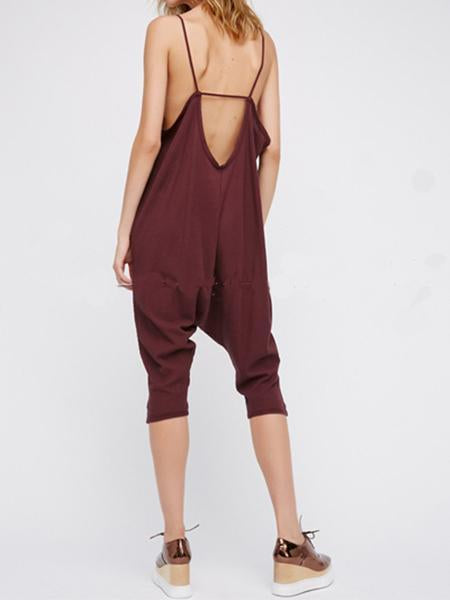 Women's New Suspenders Conjoined Pants