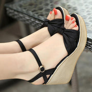Casual Pure Color Wedge Sandals
