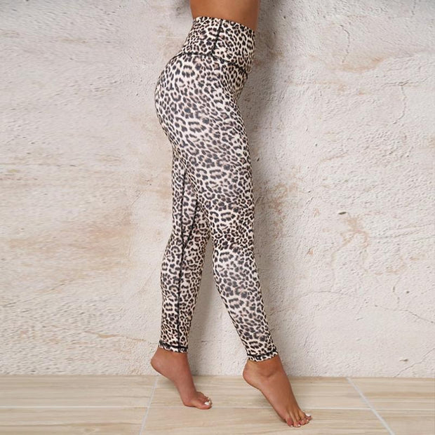 Fashion Leopard Printed Fitting Leggings Pants