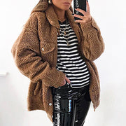 Loose Faux Fur Coat