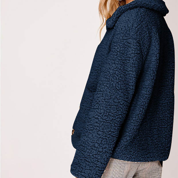 Warm Fleece Cardigan Coat