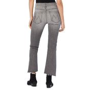 Fashion Pure Color Middle Waist Jeans