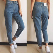 Plain Basic Fitted Jeans