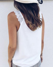 Lace Chest Knotted Sexy Vest