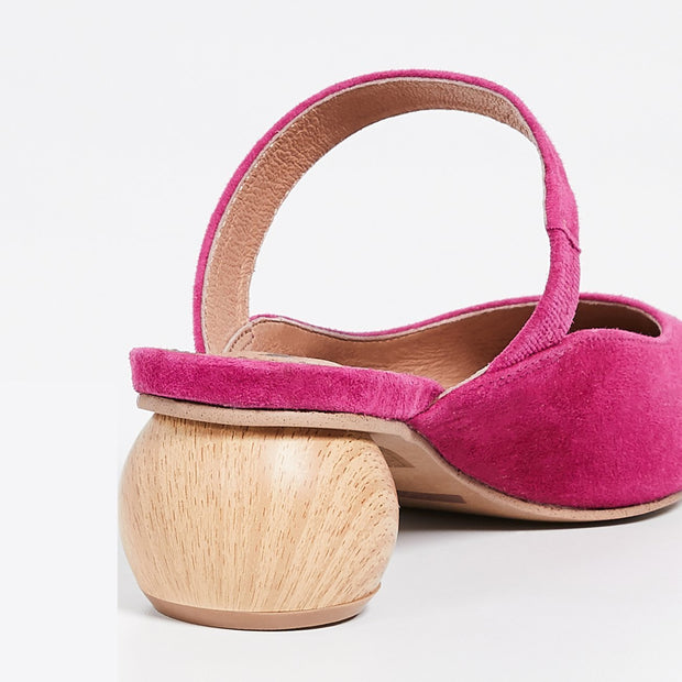 Fashion Vintage Baotou Wooden Root Slippers