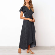 Fashion Print Polka Dot Midi Dress