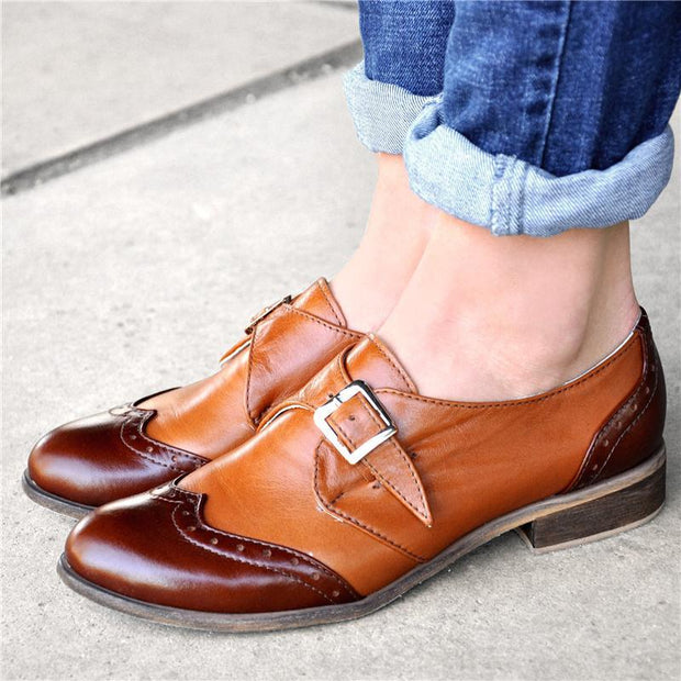 Bicolor Fashionable Oxford Shoes