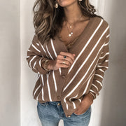 V-neck button knit cardigan top