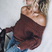 Women's Sexy Off-Shoulder Sweater