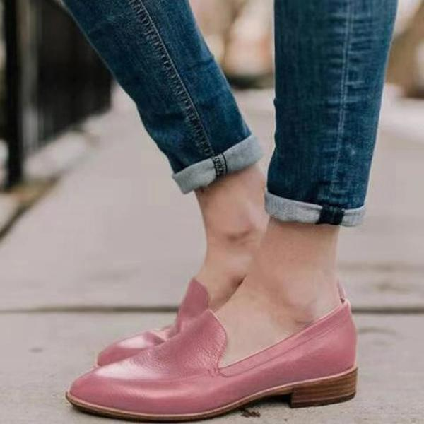 Shallow Mouth Low Heel Pointed Casual Shoes