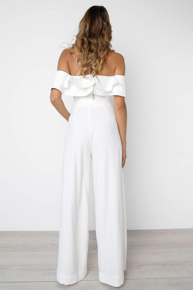 Solid Color Shoulderless Sexy Top Trousers Two-Piece