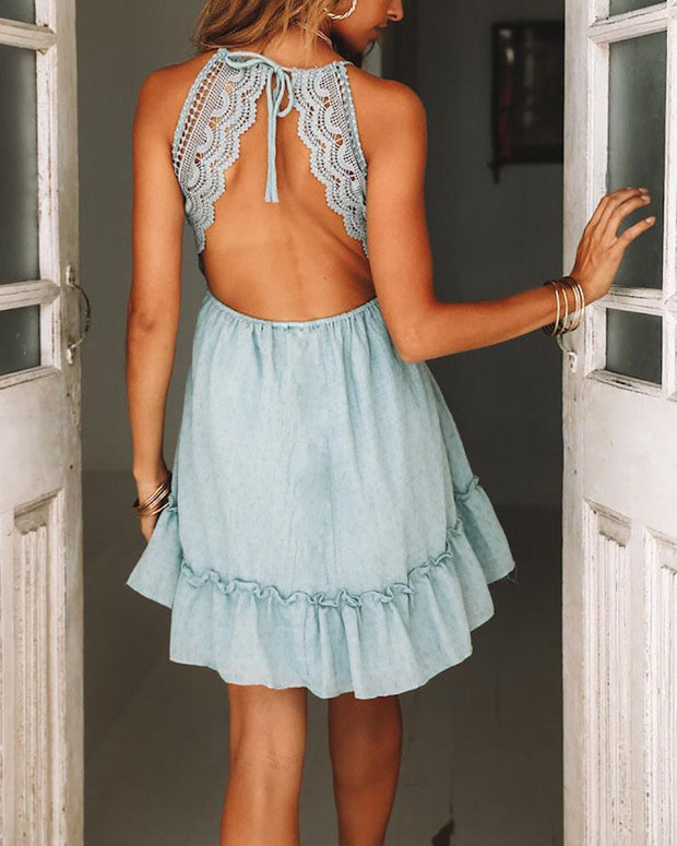 Open Back Lace Lace Openwork Lace Skirt