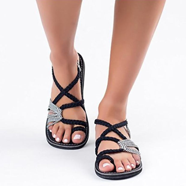Contrast Stitching  Color Block Sandals