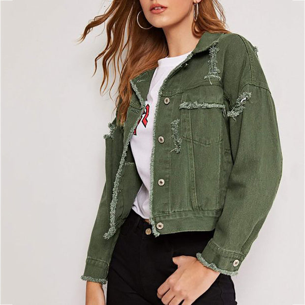 Women's Casual Solid Color Jacket