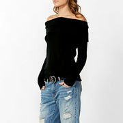 Women's Strapless Strapless Sexy Slim Sweater