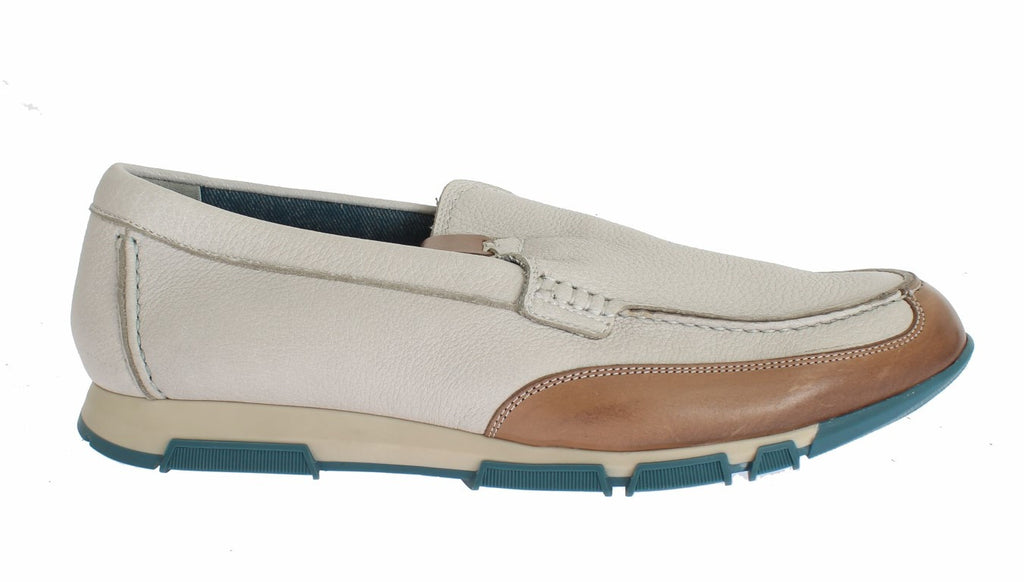 White Leather Casual Loafers