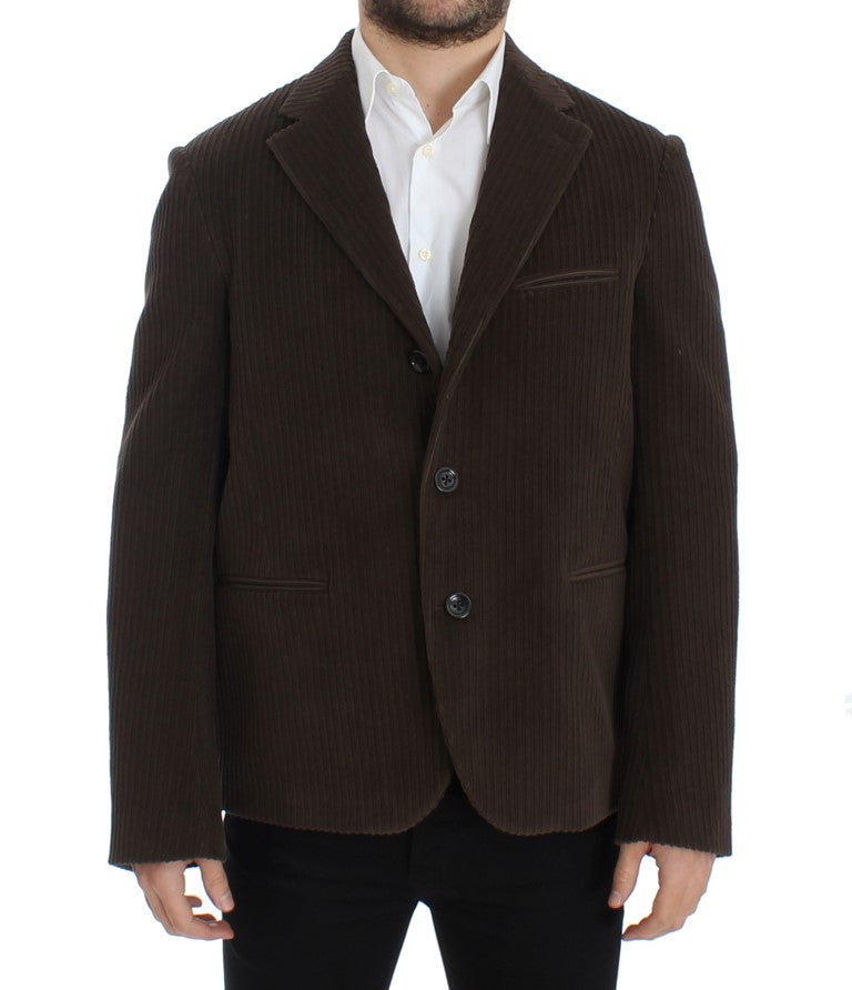 Brown manchester stretch blazer